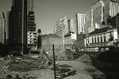 Photograph - Old New York Photo - Manhattan Construction Site by Art America Gallery Peter Potter