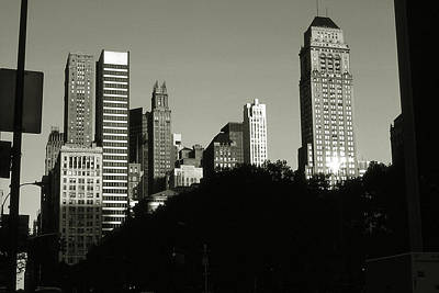 Photograph - Old New York Photo - Midtown Manhattan Skyscrapers by Art America Gallery Peter Potter