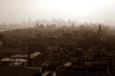American Photograph - Old New York Photo - Uptown Manhattan Skyline by Art America Gallery Peter Potter
