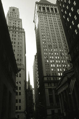Photograph - Old New York Photo - Wall Street by Art America Gallery Peter Potter