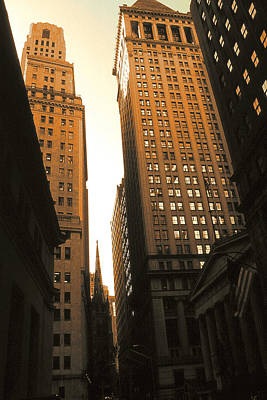 Photograph - Old New York Wall Street by Art America Gallery Peter Potter