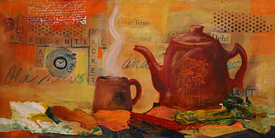 Old News And Breakfast Print by Lynn Chatman