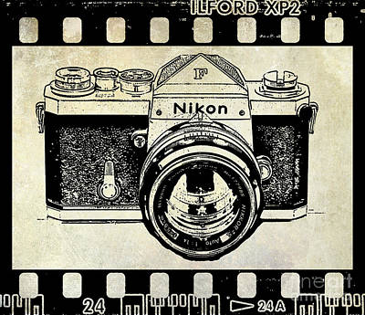 Nikon Wall Art - Photograph - Old Nikon F by Jon Neidert