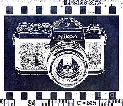 Nikon Wall Art - Photograph - Old Nikon F Negative by Jon Neidert