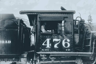 Photograph - Old No. 476 Steam Engine Durango Silverton Railroad, Colorado by John Brink