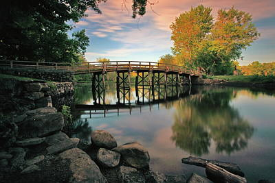 Concord Photograph - Old North Bridge by Rick Berk