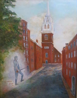 Minuteman Painting - Old North Chruch by Betsy Cullen