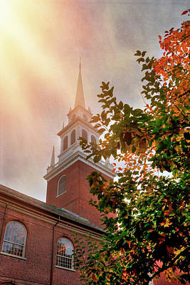 Photograph - Old North Church - Boston by Joann Vitali