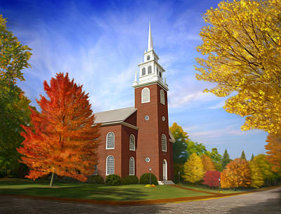 Massachusetts Painting - Old North Church by James Charles