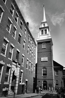 Photograph - Old North Church by Nadalyn Larsen