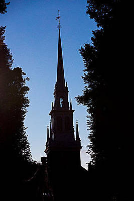 Photograph - Old North Church Sillhouette by Allan Morrison