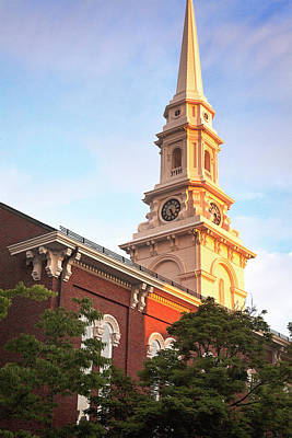 Photograph - Old North Church Steeple by Eric Gendron