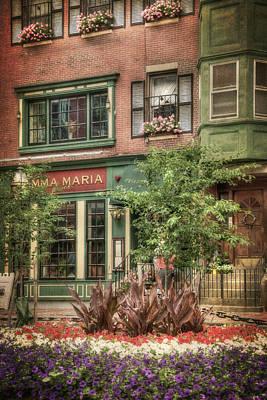 Photograph - Old North End - North Square - Boston by Joann Vitali