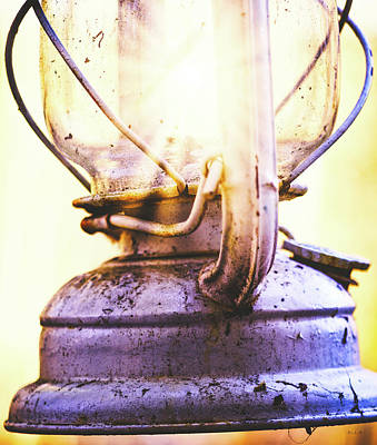 Photograph - Old Oil Lamp by Bob Orsillo