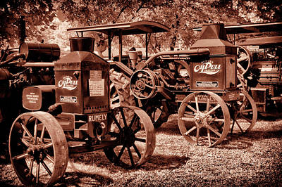 Photograph - Old Oilpull Tractors by Paul W Faust - Impressions of Light