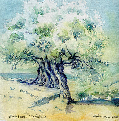 Crete Painting - Old Olive Tree by Thomas Habermann