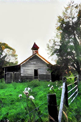 Old One Room School House 2 Art Print