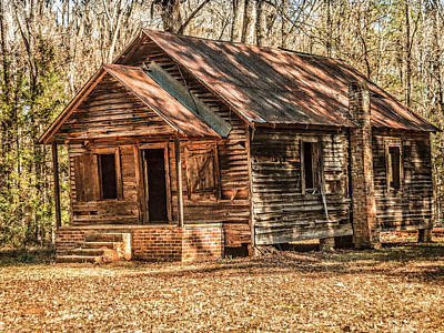 Old One Room School House Art Print by Phillip Burrow