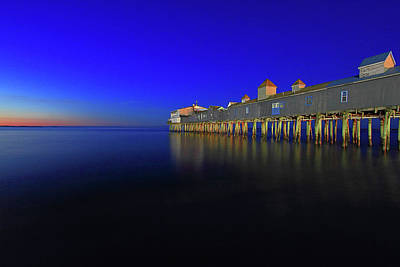 Photograph - Old Orchard Beach Pier At Sunrise by Brian Pflanz