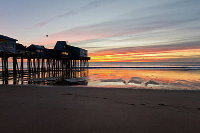 Photograph - Old Orchard Beach Pier by Ed Fletcher