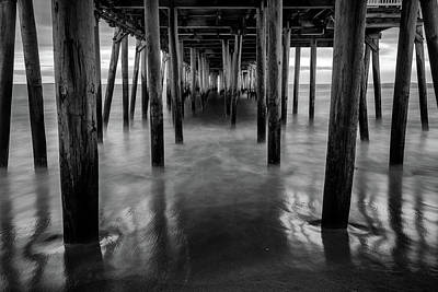 Photograph - Old Orchard Beach Pier In Black And White by Rick Berk