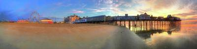 Just Desserts - Old Orchard Beach Pier Sunrise - Maine by Joann Vitali