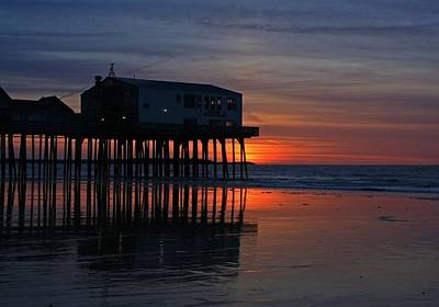 Old Orchard Beach Sunrise Art Print by Laurie Breton