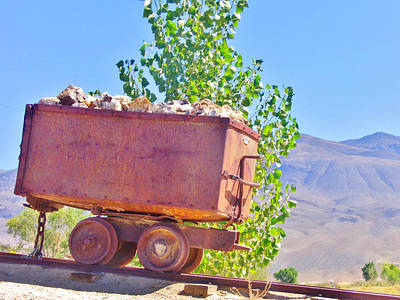 Photograph - Old Ore Car by Marilyn Diaz