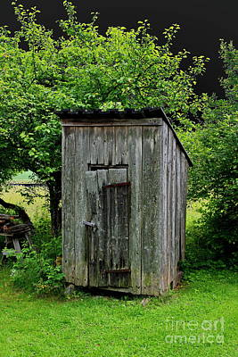 Not In Use Photograph - Old Outhouse by Esko Lindell