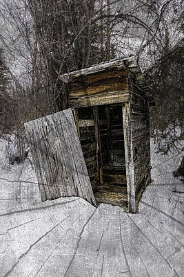 Photograph - Old Outhouse by Fred Denner