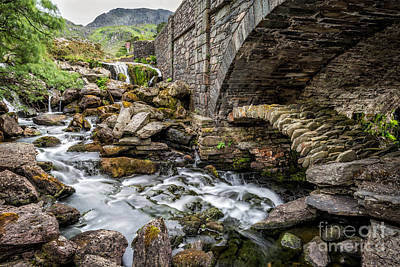Old Packhorse Bridge  Art Print by Adrian Evans