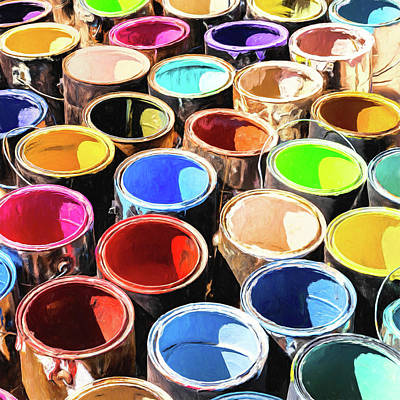 Painting - Old Paint Cans by Dominic Piperata