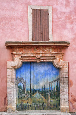 Photograph - Old Painted Door - Vertical by Michael Blanchette