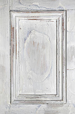 Vintage Wooden Door Panel Art Print