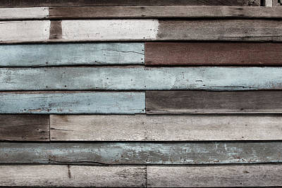 Photograph - Old Pale Wood Wall by Jingjits Photography