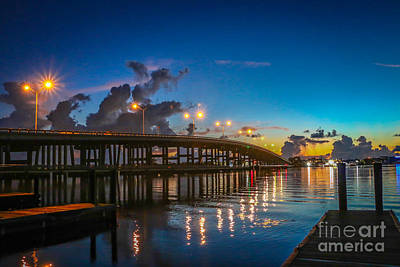 Old Palm City Bridge Art Print