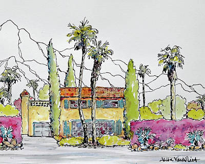 Old Palm Springs Villa 1 Original by Alita VanVliet