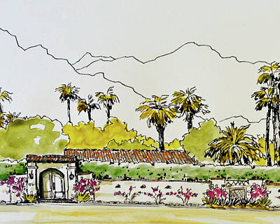 Old Palm Springs Villa 2 Original by Alita VanVliet
