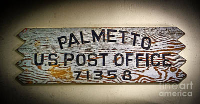 Photograph - Old Palmetto Sign by Paul Mashburn