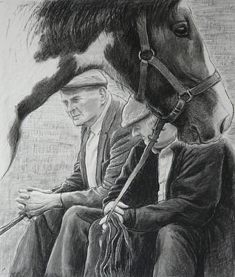 Old Friends Drawing - Old Pals Spancilhill by Tomas OMaoldomhnaigh