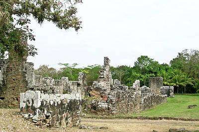 Old Panama City Ruins 8 Art Print by Douglas Barnett