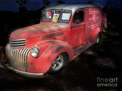 Photograph - Old Panel Truck by Anne Sands