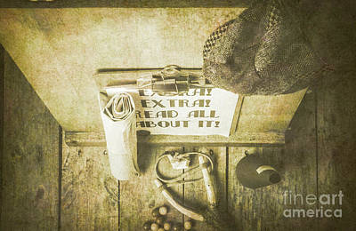 Publishing Photograph - Old Paper Boy News Stand by Jorgo Photography - Wall Art Gallery