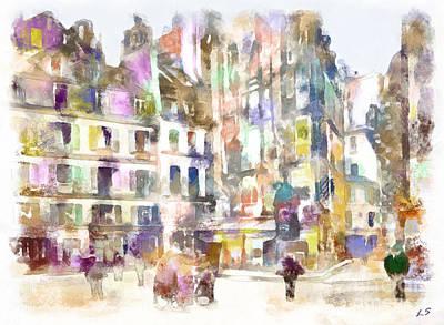 Painting - Old Paris by Sergey Lukashin