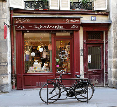 Photograph - Old Paris Shop 1 by Andrew Fare