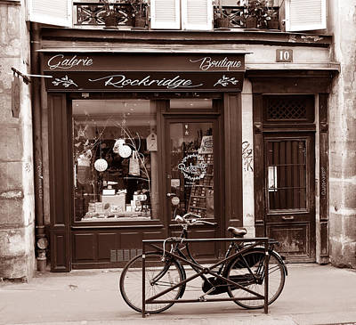 Photograph - Old Paris Shop 1b by Andrew Fare