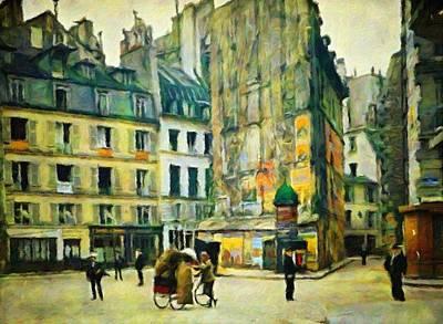 Old Paris Art Print by Vincent Monozlay