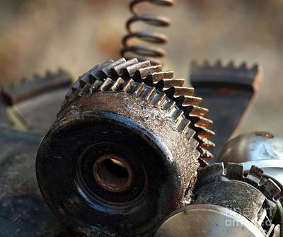 Photograph - Old Parts Of Machinery by Yali Shi