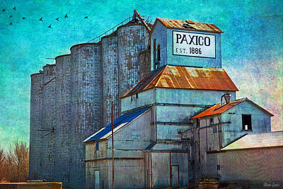 Photograph - Old Paxico Kansas Grain Elevator by Anna Louise