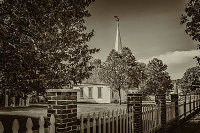 Photograph - Old Peace Chapel Defiance Mo Monotone 7r2_dsc6739_04252017 by Greg Kluempers